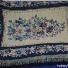 Vintage: MANTA SOFA ,CHENILLA, CON FLECO 1980. Lote 73045691
