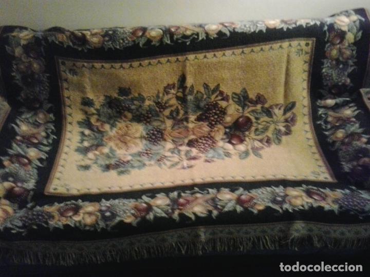 Vintage: Manta sofa ,chenilla, con fleco 1980 - Foto 2 - 73045691
