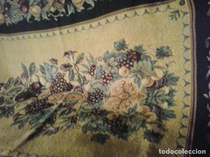 Vintage: Manta sofa ,chenilla, con fleco 1980 - Foto 4 - 73045691