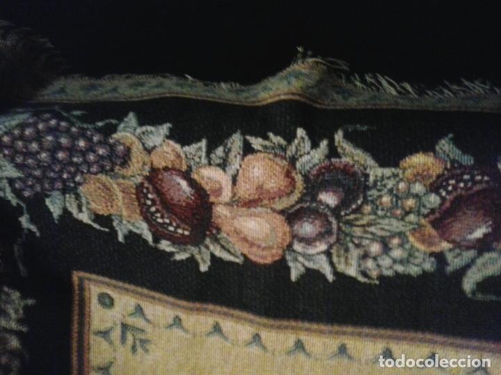 Vintage: Manta sofa ,chenilla, con fleco 1980 - Foto 5 - 73045691