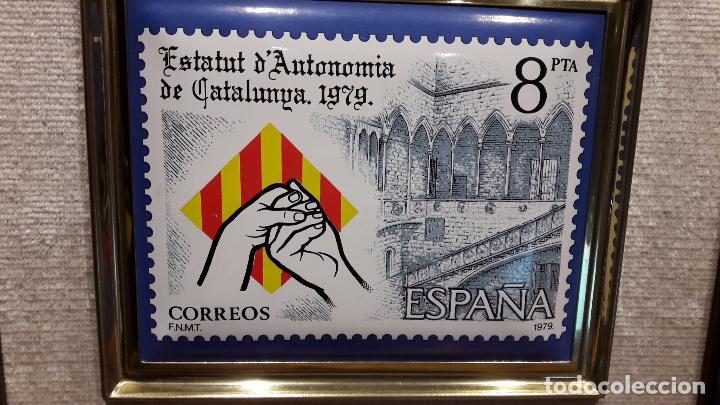 Vintage: ESTATUT DAUTONOMIA DE CATALUNYA 1979. ESMALTE AL FUEGO. TIRADA 3000 EJ. NUMERADO 0465. - Foto 2 - 73495123