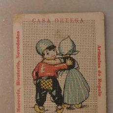 Vintage: TARJETA COSTURA OBSEQUIO CASA ORTEGA. Lote 72302887
