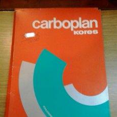 Vintage: PAPEL DE CALCO CARBOPLAN KORES. AÑOS 60-70. Lote 181314638