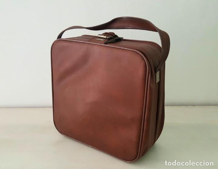 Maleta de viaje marrón vintage / vintage brown weekend suitcase segunda mano