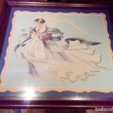 Vintage: ANGEL A PUNTO DE CRUZ. Lote 75763691