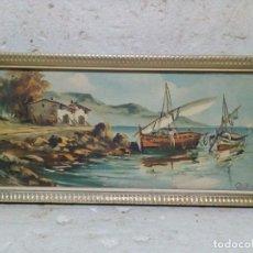 Vintage: CUADRO CON CRISTAL, CON LAMINA VINTAGE. Lote 75891719
