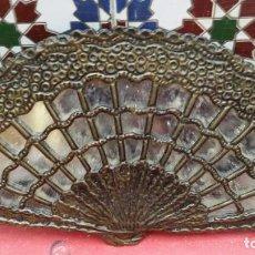 Vintage: ABANICO DE METAL Y CRISTAL. Lote 75920767