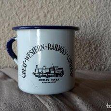 Vintage: TAZA ESMALTADA GREAT WESTERN RAILWAY COMPANY. Lote 76655427