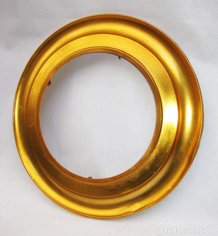 brillante marco espejo metal dorado oro ideal c - Comprar en ...