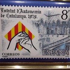 Vintage: ESTATUT D'AUTONOMIA DE CATALUNYA 1979. ESMALTE AL FUEGO. TIRADA 3000 EJ. NUMERADO 0465.. Lote 73495123