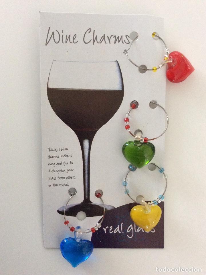 Vintage: Distingue copas de cristal de colores en forma de corazón. Blister años 80 como nuevo - Foto 4 - 78305785
