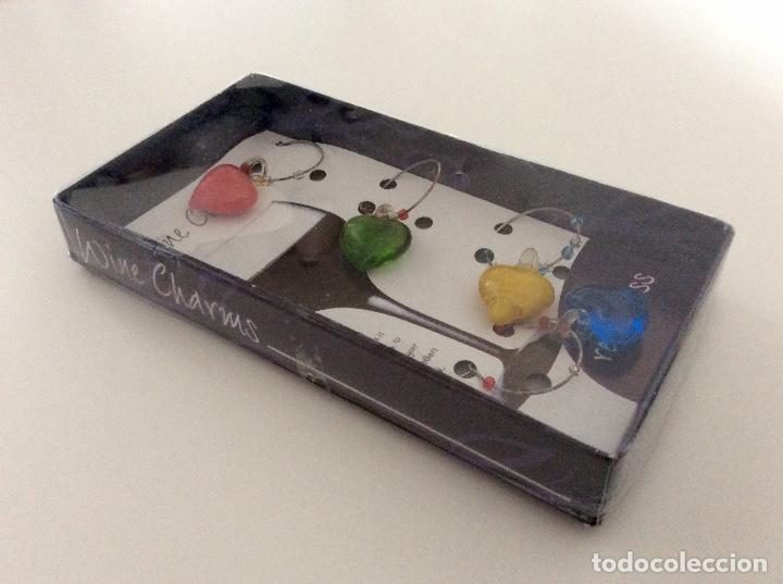 Vintage: Distingue copas de cristal de colores en forma de corazón. Blister años 80 como nuevo - Foto 6 - 78305785
