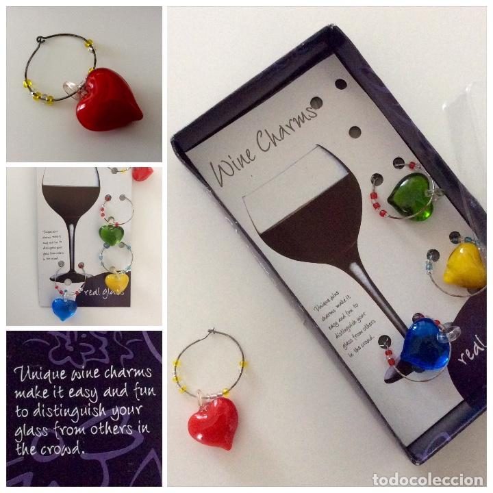 Vintage: Distingue copas de cristal de colores en forma de corazón. Blister años 80 como nuevo - Foto 7 - 78305785