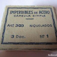 Vintage: CAJITA IMPERDIBLES DE ACERO VINTAGE NIQUELADOS. Lote 79749185