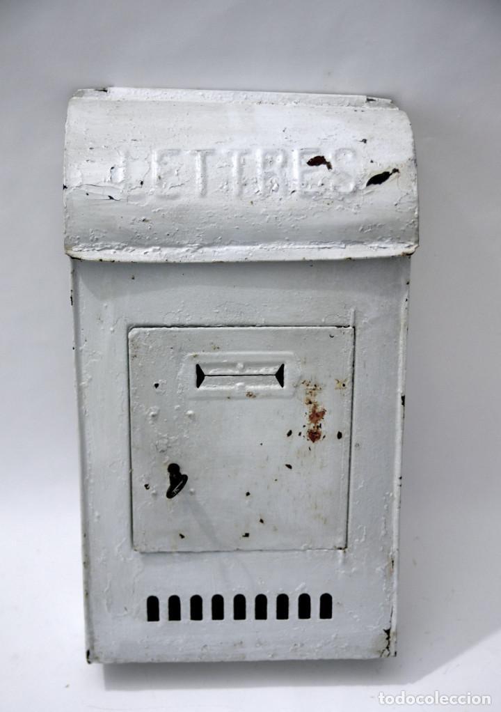 Buzon metalico para cartas con apertura de puer comprar en todocoleccion 113039358 - Buzon vintage ...