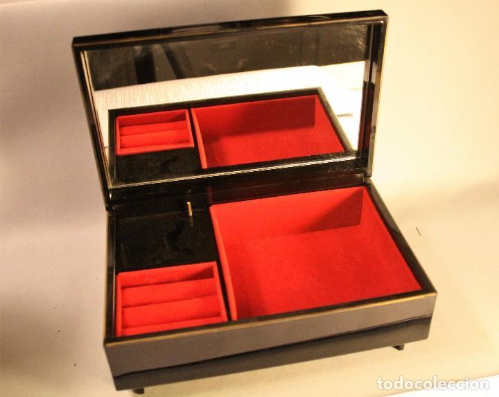 Vintage: Joyero caja de música japonés 19,5x12,5cms - Foto 2 - 80867027