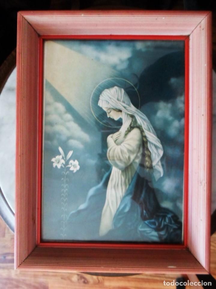 cuadro lamina virgen maria - con cristal - marc - Comprar en ...