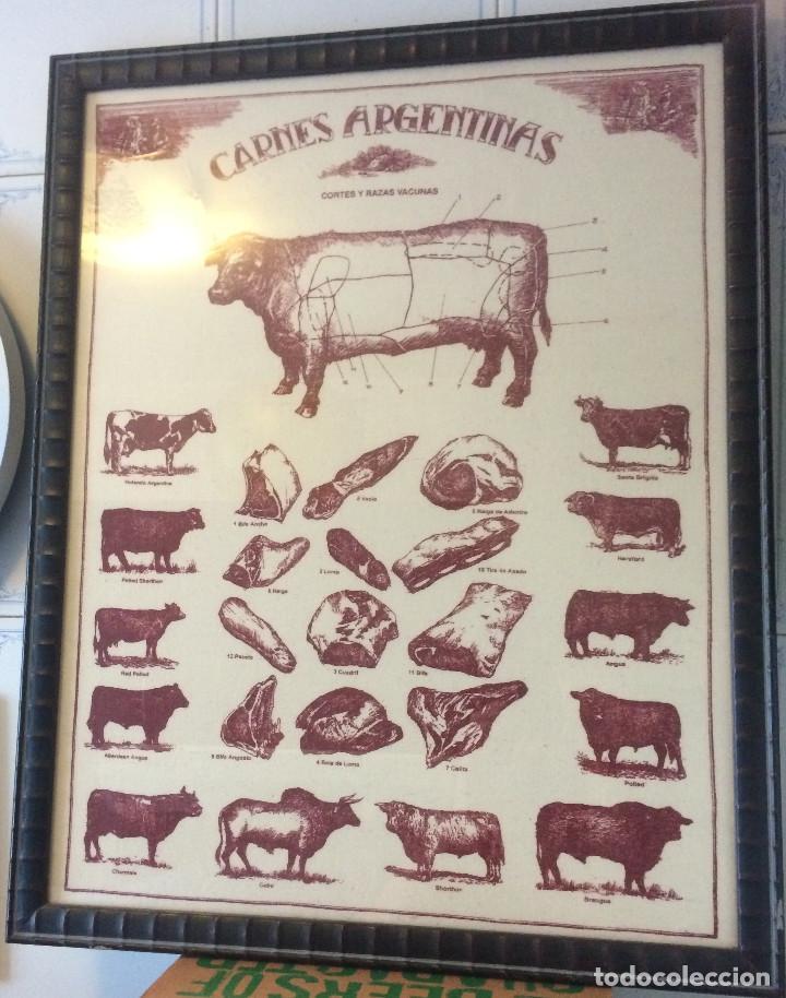cuadro enmarcado, carnes argentinas. marco de m - Comprar en ...