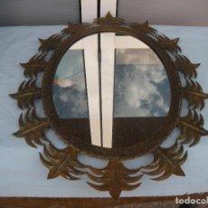 Vintage: ESPEJO DE FORJA TIPO SOL OVALADO.. Lote 81663312