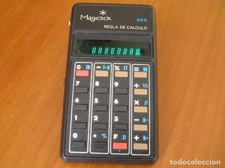 CALCULADORA MAGICLICK 343 REGLA DE CALCULO AÑOS 70 MAGICLICK CALCULATOR SLIDE RULE TASCHENRECHNER (Vintage - Varios)
