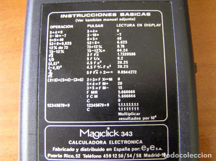 Vintage: CALCULADORA MAGICLICK 343 REGLA DE CALCULO AÑOS 70 MAGICLICK CALCULATOR SLIDE RULE TASCHENRECHNER - Foto 28 - 81744812