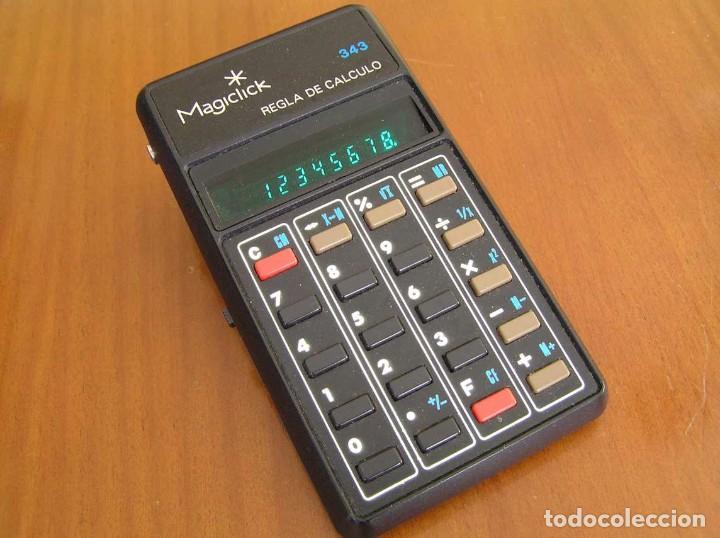 Vintage: CALCULADORA MAGICLICK 343 REGLA DE CALCULO AÑOS 70 MAGICLICK CALCULATOR SLIDE RULE TASCHENRECHNER - Foto 36 - 81744812