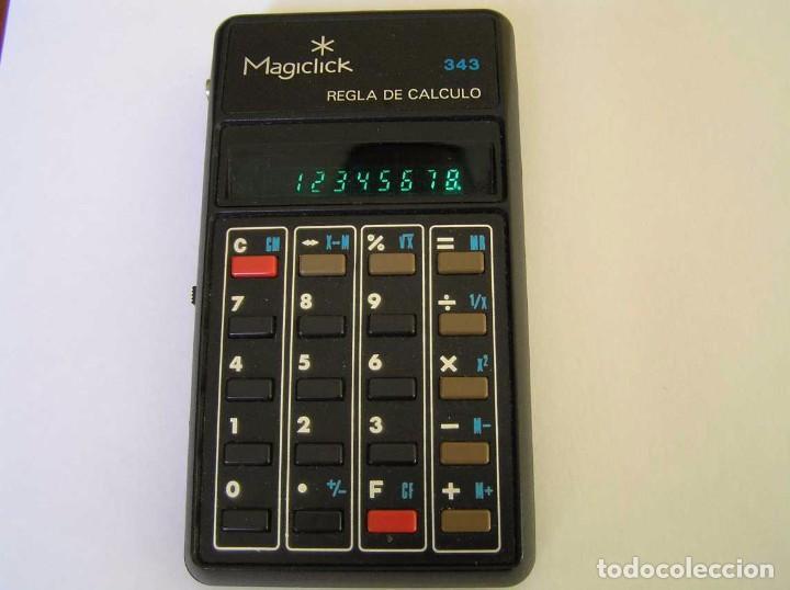 Vintage: CALCULADORA MAGICLICK 343 REGLA DE CALCULO AÑOS 70 MAGICLICK CALCULATOR SLIDE RULE TASCHENRECHNER - Foto 45 - 81744812