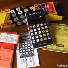 Vintage: CALCULADORA ARISTO M42 S AÑOS 70 - ARISTO ELECTRONIC CALCULATOR TASCHENRECHNER -. Lote 81900076