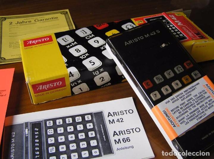 Vintage: CALCULADORA ARISTO M42 S AÑOS 70 - ARISTO ELECTRONIC CALCULATOR TASCHENRECHNER - - Foto 2 - 81900076