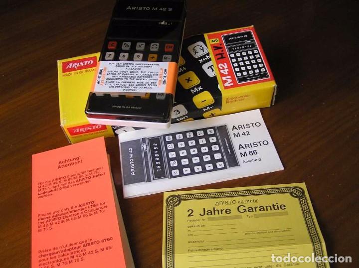 Vintage: CALCULADORA ARISTO M42 S AÑOS 70 - ARISTO ELECTRONIC CALCULATOR TASCHENRECHNER - - Foto 3 - 81900076