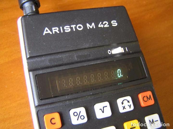Vintage: CALCULADORA ARISTO M42 S AÑOS 70 - ARISTO ELECTRONIC CALCULATOR TASCHENRECHNER - - Foto 7 - 81900076