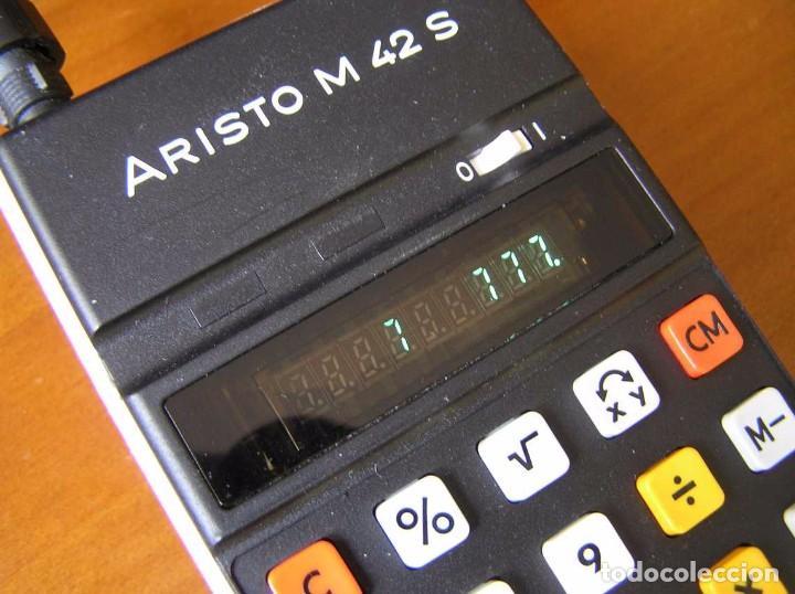 Vintage: CALCULADORA ARISTO M42 S AÑOS 70 - ARISTO ELECTRONIC CALCULATOR TASCHENRECHNER - - Foto 8 - 81900076