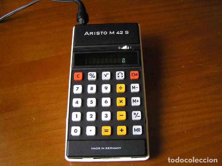 Vintage: CALCULADORA ARISTO M42 S AÑOS 70 - ARISTO ELECTRONIC CALCULATOR TASCHENRECHNER - - Foto 34 - 81900076