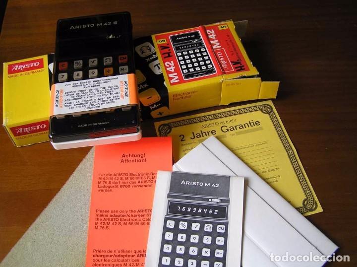 Vintage: CALCULADORA ARISTO M42 S AÑOS 70 - ARISTO ELECTRONIC CALCULATOR TASCHENRECHNER - - Foto 45 - 81900076