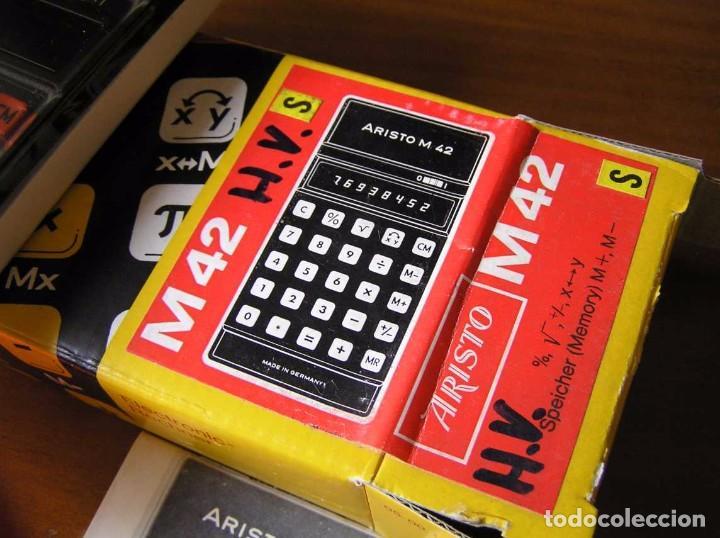 Vintage: CALCULADORA ARISTO M42 S AÑOS 70 - ARISTO ELECTRONIC CALCULATOR TASCHENRECHNER - - Foto 47 - 81900076