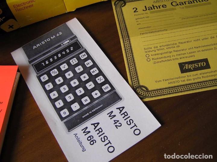 Vintage: CALCULADORA ARISTO M42 S AÑOS 70 - ARISTO ELECTRONIC CALCULATOR TASCHENRECHNER - - Foto 48 - 81900076
