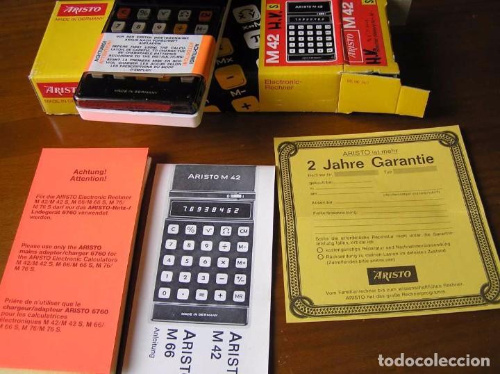 Vintage: CALCULADORA ARISTO M42 S AÑOS 70 - ARISTO ELECTRONIC CALCULATOR TASCHENRECHNER - - Foto 50 - 81900076