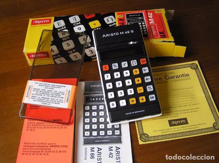 Vintage: CALCULADORA ARISTO M42 S AÑOS 70 - ARISTO ELECTRONIC CALCULATOR TASCHENRECHNER - - Foto 53 - 81900076
