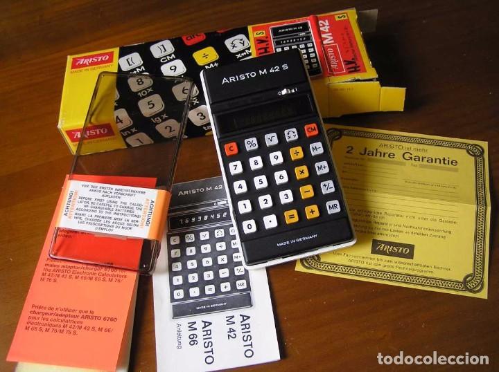 Vintage: CALCULADORA ARISTO M42 S AÑOS 70 - ARISTO ELECTRONIC CALCULATOR TASCHENRECHNER - - Foto 57 - 81900076