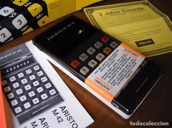 Vintage: CALCULADORA ARISTO M42 S AÑOS 70 - ARISTO ELECTRONIC CALCULATOR TASCHENRECHNER - - Foto 59 - 81900076
