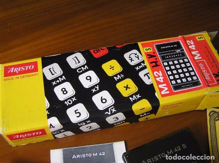 Vintage: CALCULADORA ARISTO M42 S AÑOS 70 - ARISTO ELECTRONIC CALCULATOR TASCHENRECHNER - - Foto 60 - 81900076