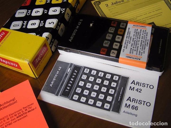 Vintage: CALCULADORA ARISTO M42 S AÑOS 70 - ARISTO ELECTRONIC CALCULATOR TASCHENRECHNER - - Foto 63 - 81900076