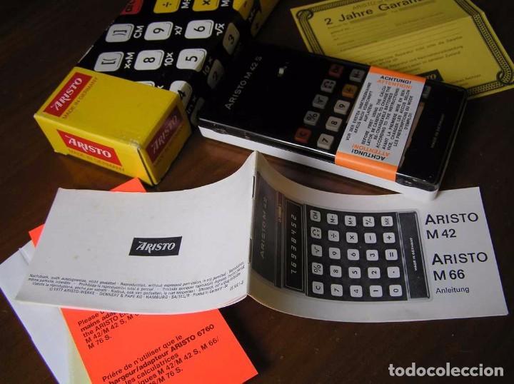 Vintage: CALCULADORA ARISTO M42 S AÑOS 70 - ARISTO ELECTRONIC CALCULATOR TASCHENRECHNER - - Foto 64 - 81900076