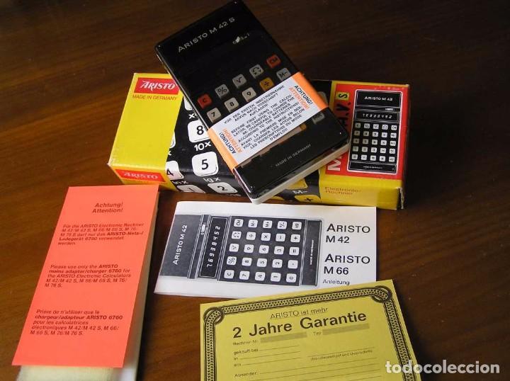Vintage: CALCULADORA ARISTO M42 S AÑOS 70 - ARISTO ELECTRONIC CALCULATOR TASCHENRECHNER - - Foto 74 - 81900076