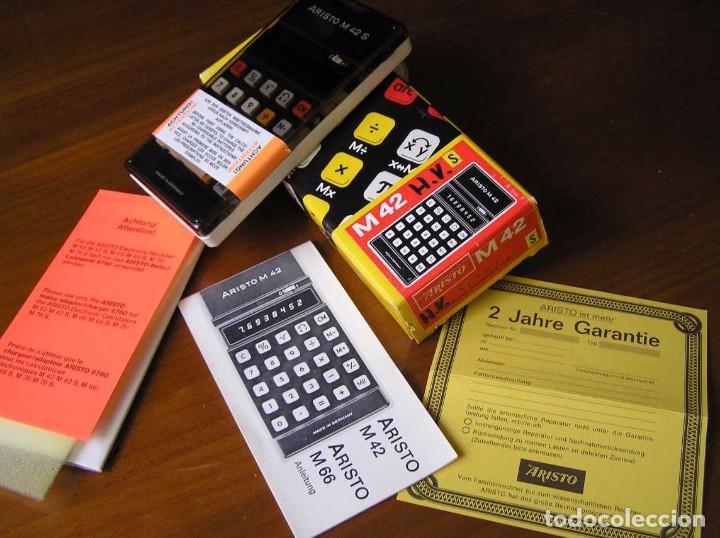 Vintage: CALCULADORA ARISTO M42 S AÑOS 70 - ARISTO ELECTRONIC CALCULATOR TASCHENRECHNER - - Foto 77 - 81900076