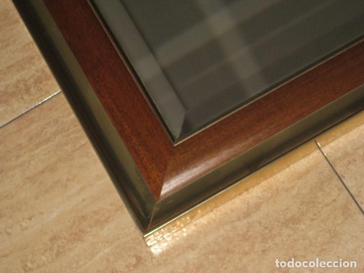 Vintage: Espejo metal y madera años 80 - Foto 2 - 82857060