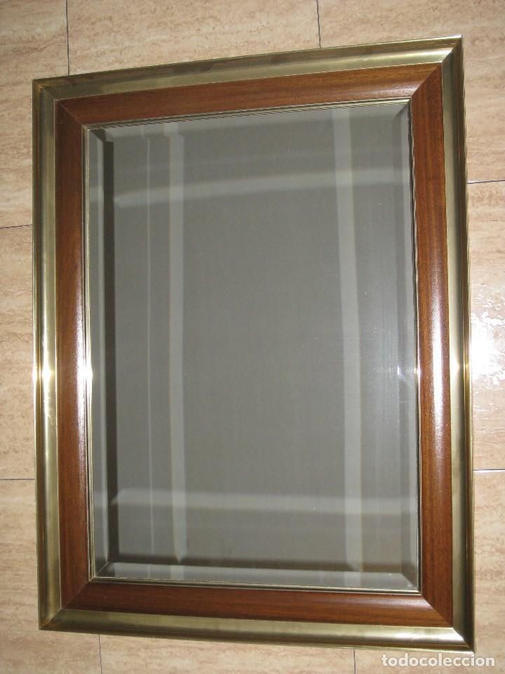 Vintage: Espejo metal y madera años 80 - Foto 3 - 82857060