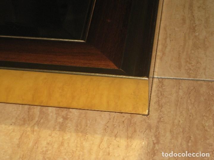 Vintage: Espejo metal y madera años 80 - Foto 4 - 82857060