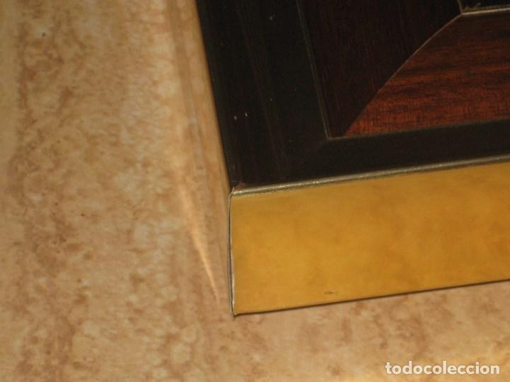Vintage: Espejo metal y madera años 80 - Foto 6 - 82857060