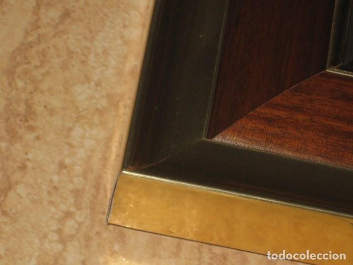 Vintage: Espejo metal y madera años 80 - Foto 7 - 82857060